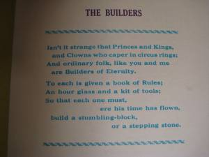 The Builders/a page from Small Print/Brit. Printing Society