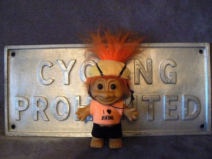 This should be the mascot of Marin County, where cycling's a crime.