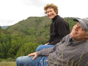 Connie & Joe on the ridgeline