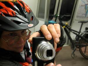 Alison & bike on Metro